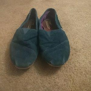 Blue corderoy TOMS